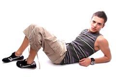 Levantamento ocasional do homem de Youn Fotografia de Stock