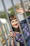 Levantamento pela cerca Fotografia de Stock Royalty Free