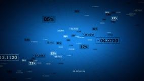 Levantamiento azul de las conexiones de red stock de ilustración