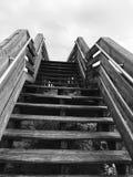 Levantamiento de la escalera Foto de archivo