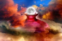 Levantamiento de la luna de la fantasía Imágenes de archivo libres de regalías
