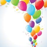 Levantamiento de los globos del partido Foto de archivo