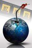Levantamiento de los precios de la gasolina Imagen de archivo libre de regalías