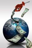 Levantamiento de los precios de la gasolina Imágenes de archivo libres de regalías