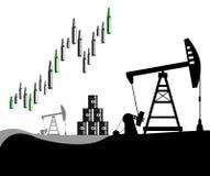 Levantamiento de los precios del petróleo Fotografía de archivo libre de regalías