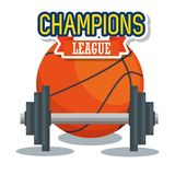 Levantamiento de pesas con aptitud del deporte del baloncesto stock de ilustración
