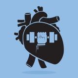 Levantamiento de pesas en su corazón Foto de archivo libre de regalías