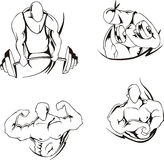Levantamiento de pesas y el bodybuilding Foto de archivo