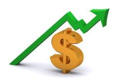 Levantamiento del dólar Imagen de archivo libre de regalías