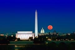 Levantamiento estupendo de la luna imagen de archivo