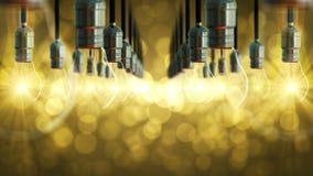 levantamiento Lazo-capaz del resplandor de la bombilla almacen de metraje de vídeo