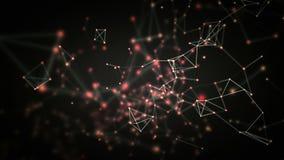 Levantamiento negro de las conexiones de red stock de ilustración