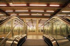 Levantamiento para arriba en la escalera móvil Foto de archivo libre de regalías