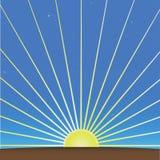 Levantamiento Sun y cielo de la mañana ilustración del vector