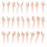 Levantando as mãos Fotografia de Stock Royalty Free