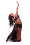 Levantando o dançarino de barriga Imagem de Stock Royalty Free