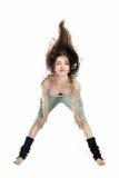 Levantando o dançarino novo isolado no branco Imagens de Stock