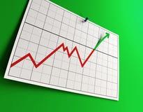 Levantando o gráfico Fotos de Stock