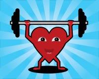 Levantar peso do coração Ilustração Stock