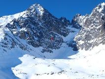 Levante ao protetor de Lomnicky em Tatras alto Fotografia de Stock Royalty Free