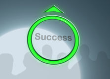Levante ao sucesso Fotografia de Stock Royalty Free