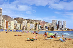 Levante Beach, in Benidorm, Spain Royalty Free Stock Photos