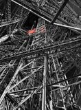 Levante en la torre Eiffel Imagen de archivo libre de regalías