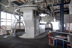 Levante a estação na montagem Schareck, Áustria Imagem de Stock