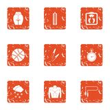 Levante a figura ícones ajustados, estilo do grunge ilustração do vetor