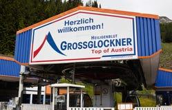 Levante a Heiligenblut-montagem incompleta Schareck da estação Fotografia de Stock