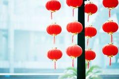Levante la linterna roja Imágenes de archivo libres de regalías