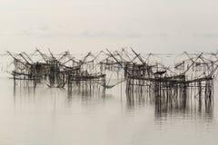 Levante las redes para coger pescados Imagen de archivo