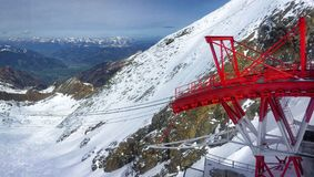 Levante na estância de esqui austríaca imagem de stock royalty free