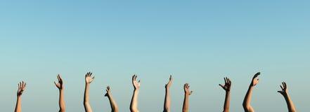 Levante sus manos Foto de archivo libre de regalías