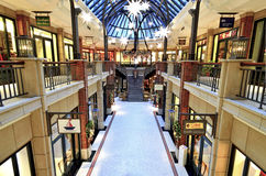 Luxury stores inside shopping center Levantehaus in Germany Royalty Free Stock Image