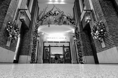 Black and white entrance at luxury shopping center Stock Images