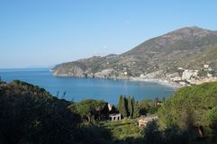 Levanto-Golfansicht, Cinque Terre, Italien Stockbild