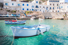 Levanzo fishing boats Stock Image