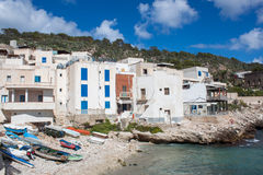 Levanzo fishing boats Stock Photography