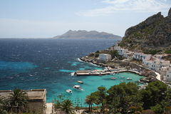 Levanzo harbour. Fishing village and tourist destination (Sicily Royalty Free Stock Photos