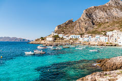 Levanzo island in the Mediterranean sea, Italy Stock Images