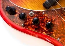 Leve di comando della chitarra bassa fotografie stock libere da diritti