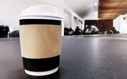 Leve embora o copo de café fotos de stock royalty free