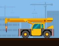 Leve o guindaste industrial da plataforma ilustração do vetor