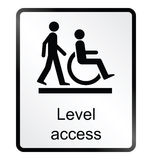 Level Access Information Sign Royalty Free Stock Photos