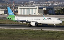 Level Airlines Airbus a321 at Málaga. royalty free stock images