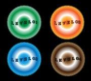 Level badges Stock Photography