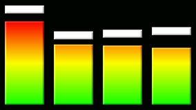 Level bars stock video