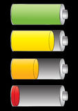 Level of battery charge Stock Images