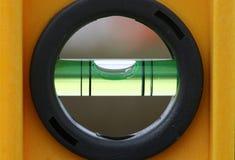 Level bubble. Macro shot of a level bubble Stock Photo
